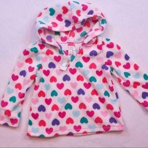 ❤️ Hearts ❤️Soft Fleece pullover top size 3T